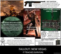 Fallout: New Vegas -- It Teaches Survival! --SurvivalColony.com