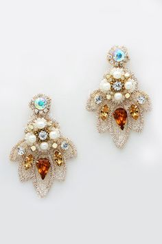 Embroidered Etta Earrings