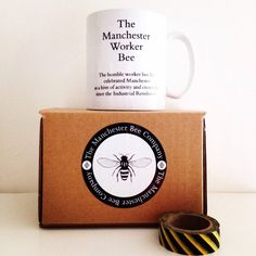 Manchester Worker Bee Mug by TheManchesterBee on Etsy