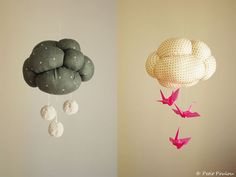 cloud mobiles to make via apartment therapy