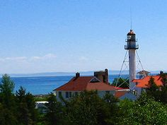 Whitefish Point Lighthouse in the Upper Peninsula. Google Image Result for http://www.superiortrails.com/upimages/2006-0615.jpg