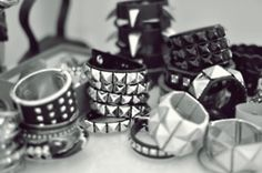 Studded Rings  Im obsessed with chunky jewelry lately