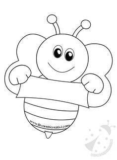 Bee Crafts For Kids, Preschool Crafts, Art For Kids, Bee Coloring Pages, Coloring Books, Colouring, Bee Art, School Decorations, Bee Theme