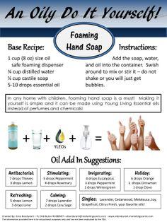 An Oily DIY - Foaming hand soap - - Erica Bondurant YL Distributor # 1480957  ebondurant@marketingscents.com #YLEO #anoilydiy