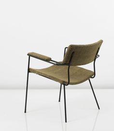 Arthur Umanoff; Enameled Metal Armchair for Raymor, 1950s.