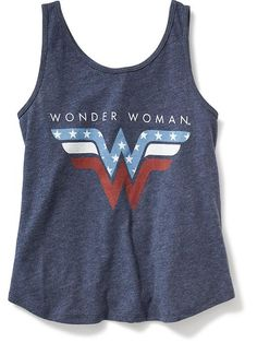 DC Comics&#153 Wonder Woman Graphic Swing Tank for Girls Product Image