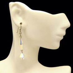 Unique Long AB Crystal Beads Vintage Dangle Earrings Pretty Design #MyClassicJewelry