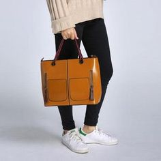 Women Oil Wax Leather Tote Bag Retro Shoulder Bags Handbags is designer, see other popular bags on NewChic Mobile. Crossbody Wallet, Leather Crossbody, Leather Bag, Handbags Online, Women's Handbags, Popular Bags, Color Khaki, Casual Bags, Leather Shoulder Bag