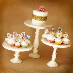 One Pedestal Cake Stand  Any color  8 height  by RoxyHeartVintage, $75.00