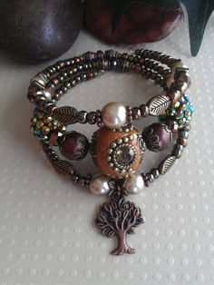 OOAK Tree of Life rustic copper and pearl memory by ABBGDesigns