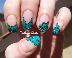 Nail art green curtain by ValangelNails - Nail Art Gallery nailartgallery.nailsmag.com by Nails Magazine www.nailsmag.com #nailart