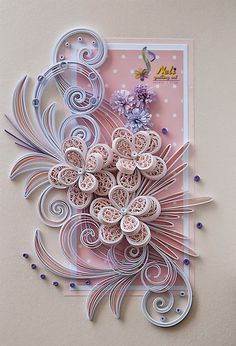 *QUILLING ~ by: neli: Quilling cards /14.8 cm- 10.5 cm/ - summer:
