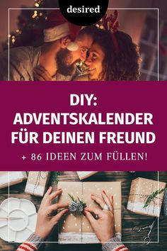 Adventskalender für den Freund: Geniale DIY-Ideen You want to surprise your sweetheart this year with a home made Advent calendar? We show you great craft ideas and have 86 suggestions for filling! Diy Presents, Christmas Presents, Diy Gifts, Christmas Time, Advent Calendar Fillers, Diy Advent Calendar, Homemade Advent Calendars, Advent Calenders, Christmas Calendar