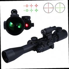 47.09$  Buy now - http://aliy9x.worldwells.pw/go.php?t=32705999614 - 3 - 9X40EG Illuminated Riflescope Red Green Optics Sniper Scope Sight Hunting Red Laser with Holographic Combo Airsoft Gun