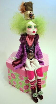 """Mad Hatter"" OOAK Altered Art Monster High Spectra Vondergeist Doll Repaint by Refabrications"