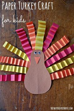 Fine motor skill building Thanksgiving style!  Try this cute kid craft to celebrate the holiday!