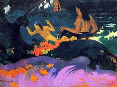Paul Gauguin - Post Impressionism - Tahiti - Près de la mer - 1892 Be Sure To Visit: http://universalthroughput.imobileappsys.com/