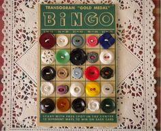 Buttons on bingo card