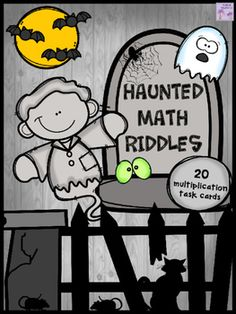 Halloween Haunted Math Riddles - Real Time - Diet, Exercise, Fitness, Finance You for Healthy articles ideas Halloween Math, Halloween Themes, Halloween Activities, Rhyming Riddles, Multiplication Problems, Fourth Grade, Third Grade, Thing 1, Elementary Teacher