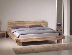 LIMA Doppelbett / Massivholzbett 140 x 200   mit Nachttisch
