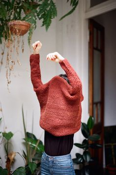Handknit sweater pattern by Nido in the latest Knit Wit magazine.