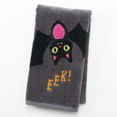 Halloween ''EEK!'' Bat Hand Towel