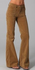 Corduroy Bell bottoms. Had a pair exactly like this and wore it with my grandpa sweater!! My fav pants back then!!