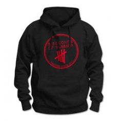 Black hoodie featuring the derping stamp logo in red. This item is for pre-order only. Your entire order will ship on or around April 5sos Shirt, 5sos Outfits, Summer Store, Fan Shirts, Band Merch, Second Of Summer, Red Hoodie, Geek Girls, Wedding Humor