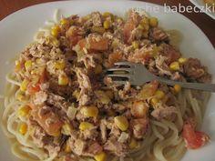 kruche babeczki: Spaghetti z tuńczykiem i nie tylko :)