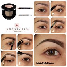 Another Eyebrow Pictorials using Anastasia Beverly Hills Brow Products. Using Brow Powder Duo in Dark Brown & Brow Duality (Matte) as Highlight.