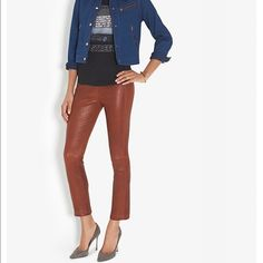 Rag & Bone Leather Pants size 00/ color Cognac Purchased at intermix and never ever worn. I don't like the color rag & bone Pants