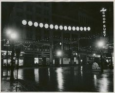 Kearney Square, Lowell, MA, holidays 1949. From www.richardhowe.com, contributed by local artist Maxine Farkas.