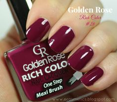 e-Cosmetics: Golden Rose Rich Color #28 - swatche