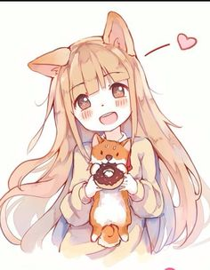 Kawiie fox and chibi girl.