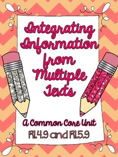 Integrating Information from Multiple Texts Common Core Unit. Includes 4 complete texts, printables, text dependent questions, and much more!