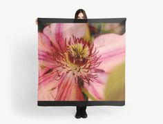 Pink Clematis Scarves, Clothing and Much More!