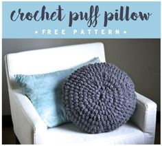 Crochet Puff Pillow Free Pattern Tutorial