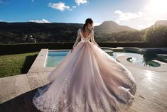 Nora Naviano Verena 17343 Wedding Blog, Wedding Styles, Bridal Gowns, Wedding Gowns, Flower Dresses, Chiffon Dress, Beautiful Bride, Bridal Style, Ball Gowns