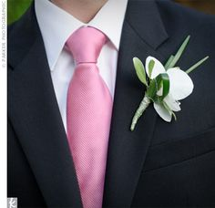 White Orchid Boutonniere    Nice and simple.