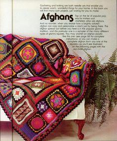 Crochet Blanket Pattern 195 PDF Afghan Granny door wonkyzebra