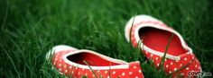 Red Shoes In Green Grass facebook cover