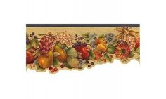 Green Fruit and Flowers GG54121 Wallpaper Border