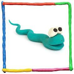 Serpiente de plastilina para niños