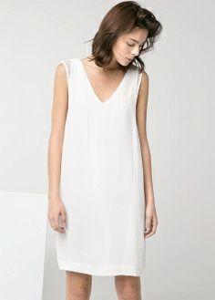 Crepe shift dress - Dresses - Women - MANGO DRESS DALENA399 NOK Ref: 21007603