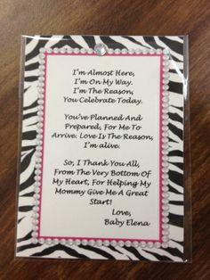 Baby shower poem for a little girl