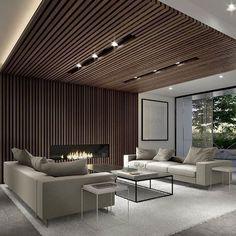 90 Best Modern Ceiling Design for Home Interior Lobby Interior, Living Room Interior, Interior Architecture, Living Room Decor, Living Rooms, Bedroom Decor, House Ceiling Design, Home Ceiling, House Design
