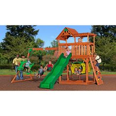 Adventure Playsets Arizona Swing Set with Bouncy Tunnel