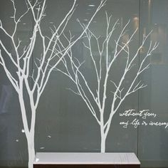 Branches in winter Wall Art Murals Removable Vinyl Wall Decals Paper Stickers. $58.00, via Etsy.