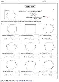 Names of Polygons Name regular and irregular polygons