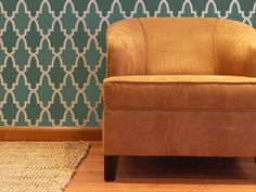 Moroccan inspired geometric allover stencil.  Maybe for bedroom accent wall? Bathroom? Pantry? Closet?